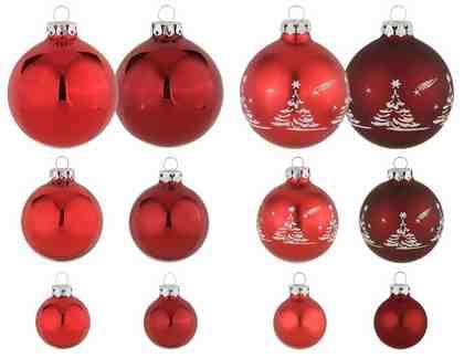 Thüringer Glasdesign TGS-Weihnachtskugeln, Made in Germany, (30-teilig), »Advent«