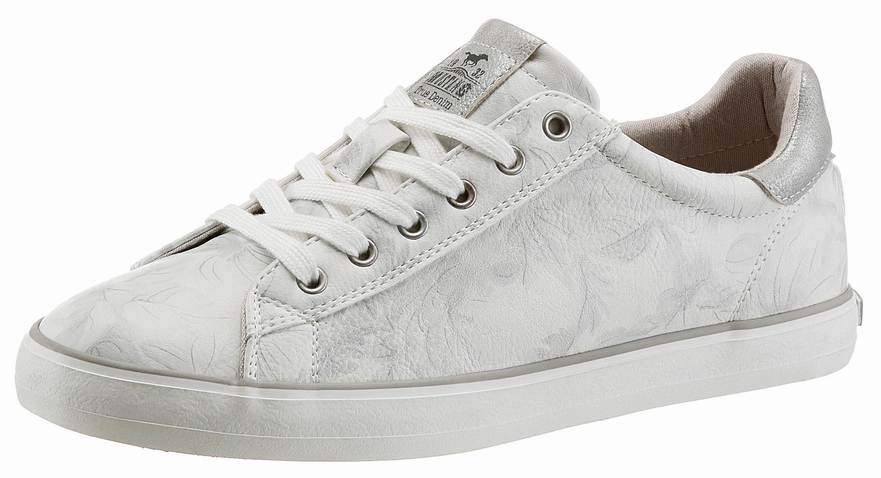 Mustang Shoes Sneaker, mit trendig weißer Laufsohle, grau, 39 39