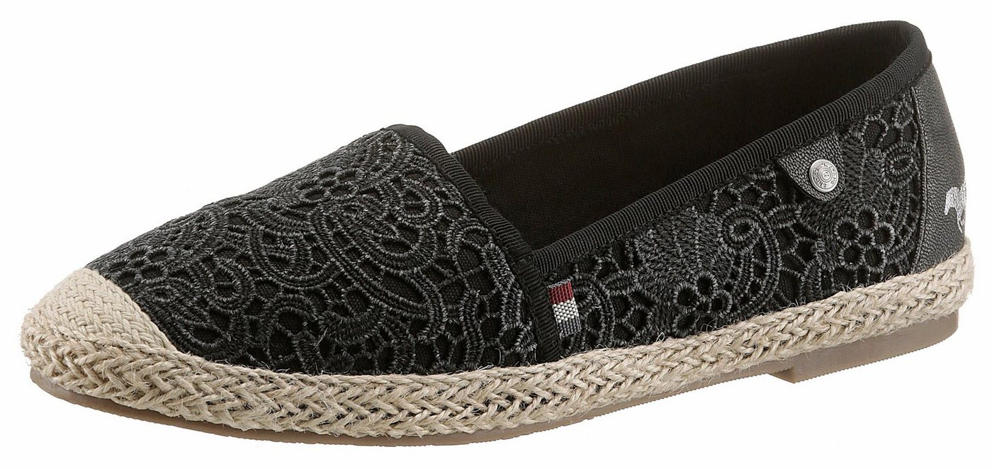 Mustang Shoes Espadrille in Makramee-Optik