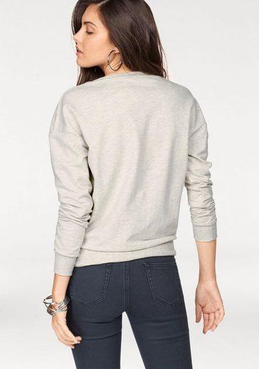 AJC Sweatshirt, mit Zier-Schnürung vorn