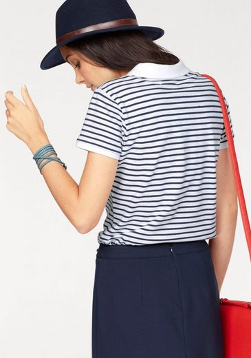 Tom Tailor Polo Team Poloshirt, in schöner gestreifter Baumwoll-Qualität
