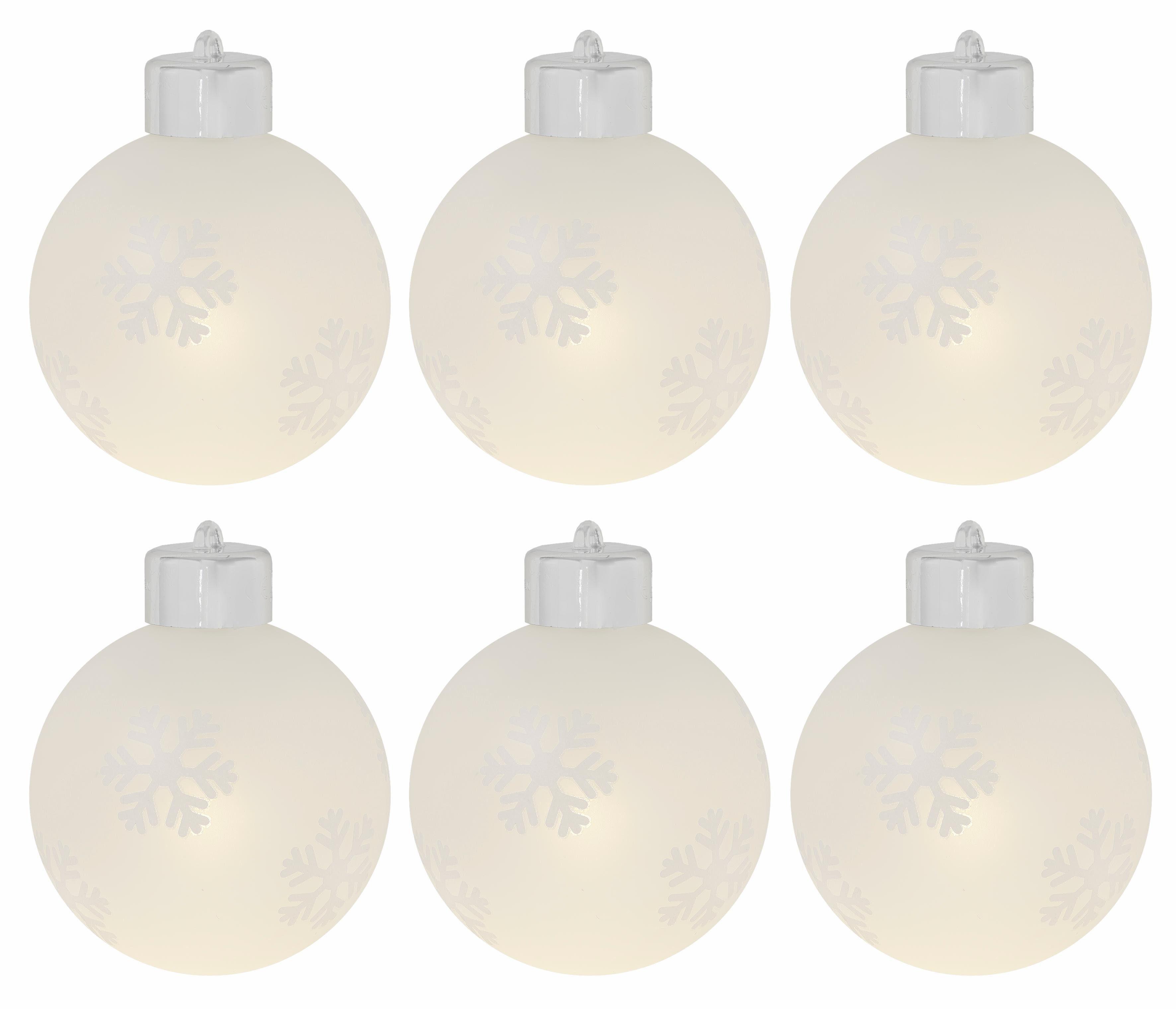 LED Glaskugeln, 6er Set, inklusive Fernbedienung