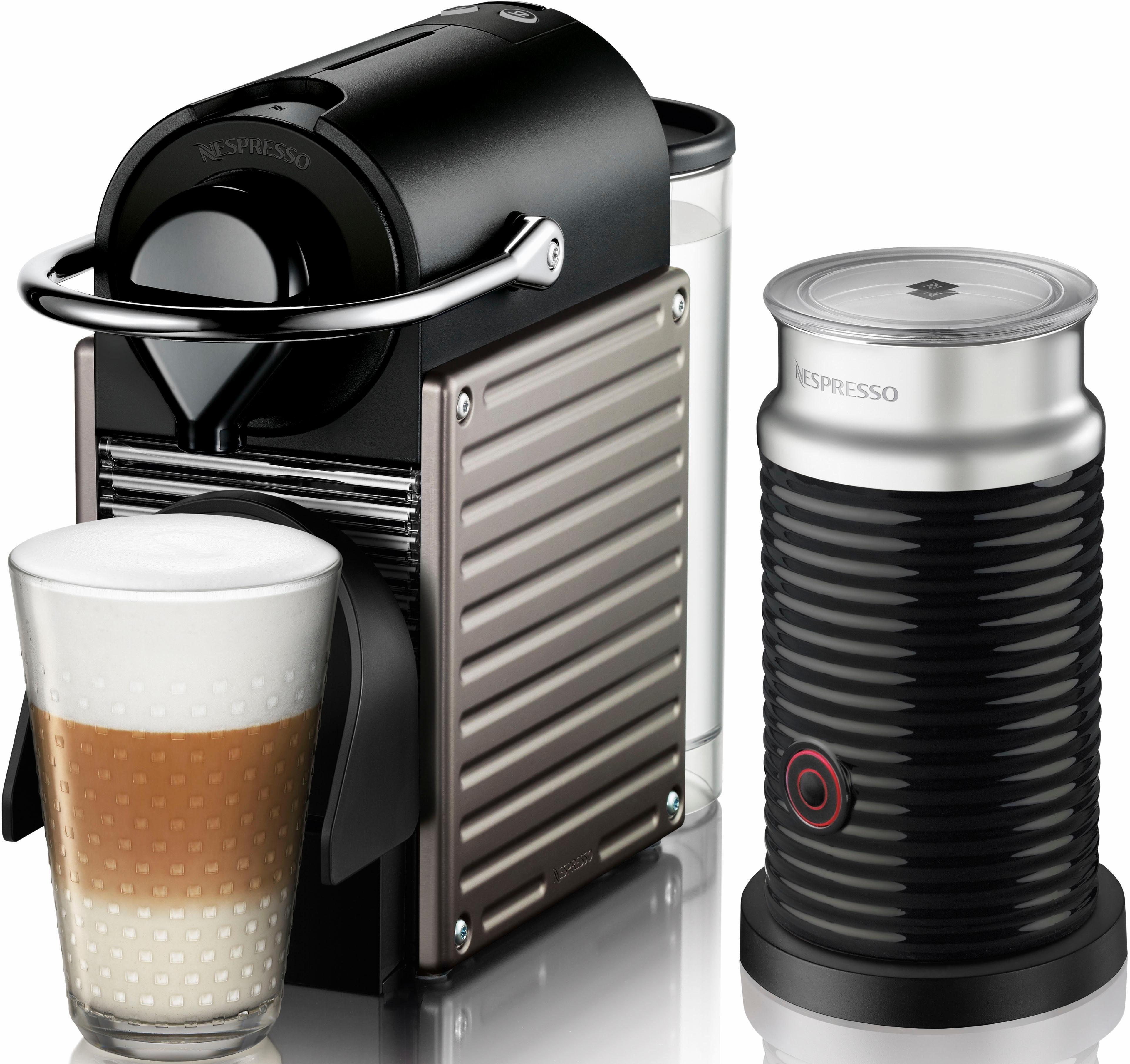 Nespresso Kapselmaschine XN301T Nespresso PIXIE, Inkl. Aerochino