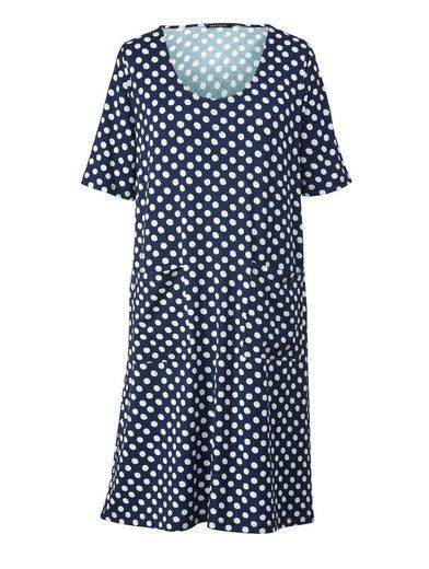 Sara Lindholm by Happy Size Jersey-Kleid gepunktet