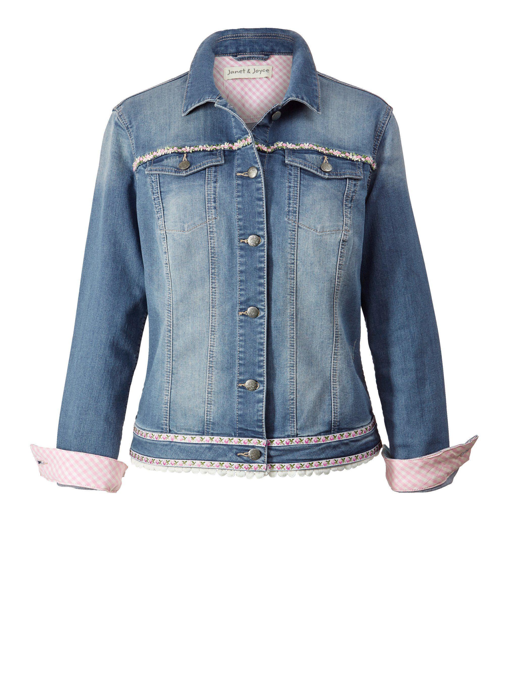 Joyce Janet Online Kaufen Happy Und By jeansjacke Stickerei Size Mit Trachten srChtdQ