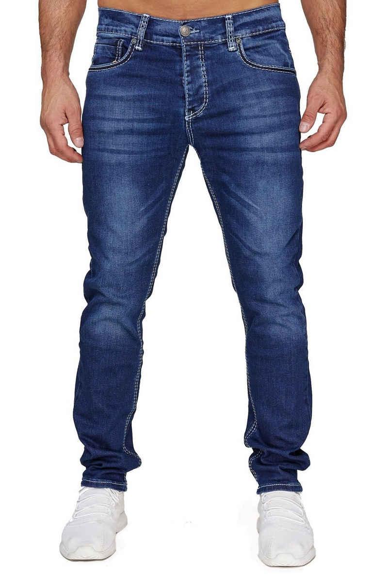 Amica Jeans Regular-fit-Jeans »3512« Herren Jeans Dicke Weiße Zier Nähte