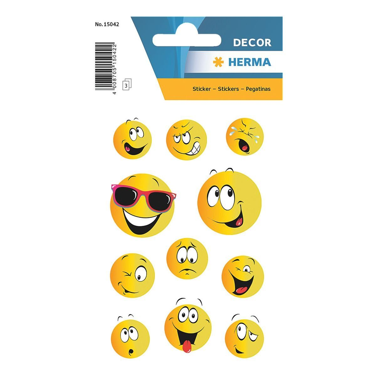 HERMA Sticker DECOR, »Happy Face«