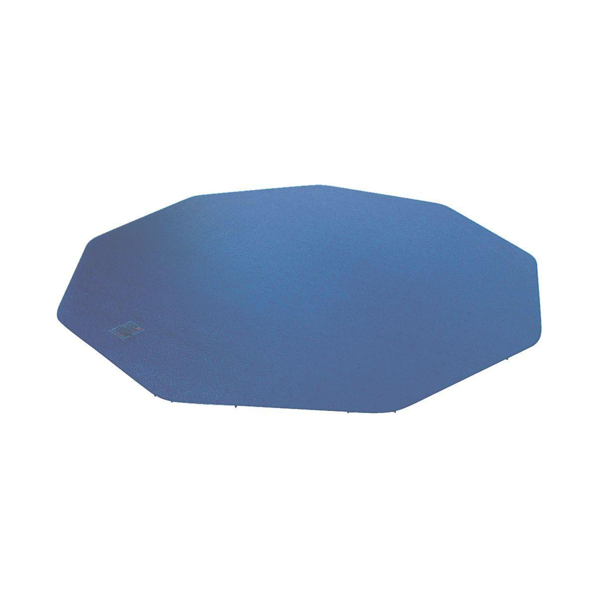FLOORTEX Bodenschutzmatte, 9-eckig 100x100 cm, blau, für Teppich... »9mat«