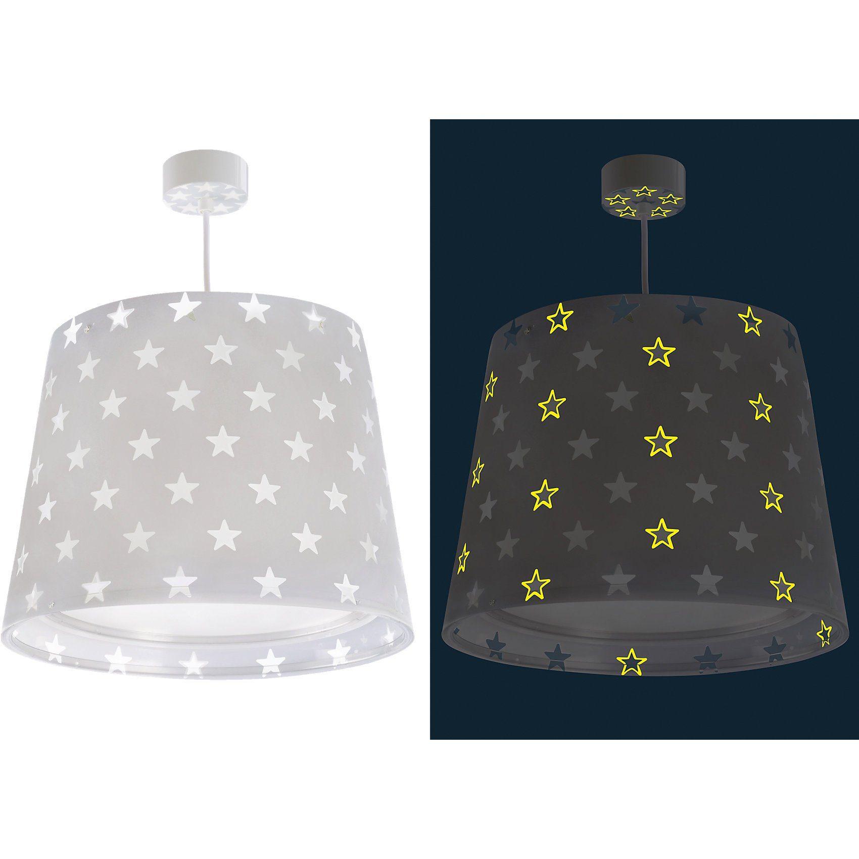 Dalber Hängelampe STARS, Glow in the dark, grau