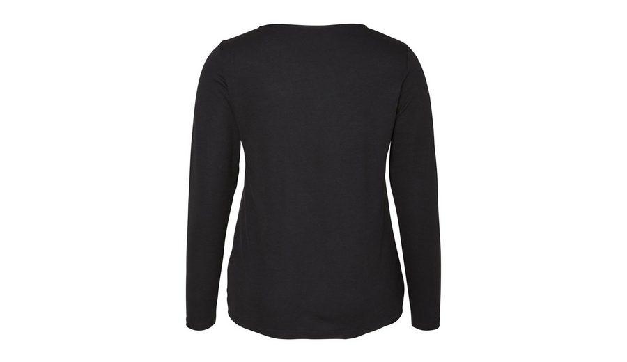 JUNAROSE Langarm-Bluse mit V-Ausschnitt Liefern Online bsmbxz