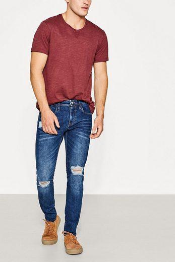 EDC BY ESPRIT Destroyed Jeans aus Stretch-Denim