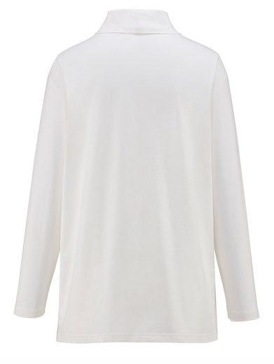 MIAMODA Shirt mit Rollkragen aus Single Jersey