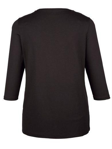 MIAMODA Longshirt mit Frauenmotiv-Druck vorne