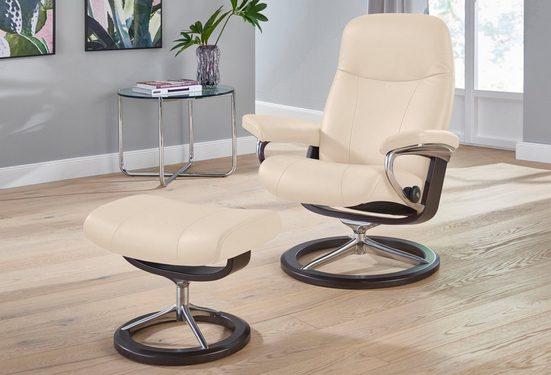 Stressless® Relaxsessel »Garda« (Set, Relaxsessel mit Hocker), mit Hocker, mit Signature Base, Größe L, Gestell Wenge