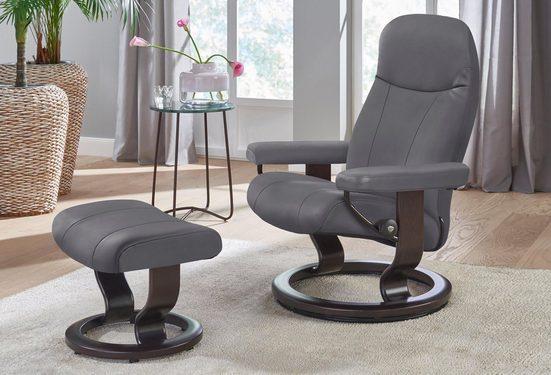Stressless Relaxsessel Garda mit Hocker mit Classic Base Größe L mit Schlaffunktion