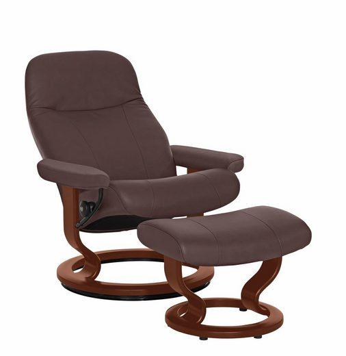 Stressless® Relaxsessel »Garda« (2-tlg), mit Hocker, mit Classic Base, Größe M, Gestell Braun