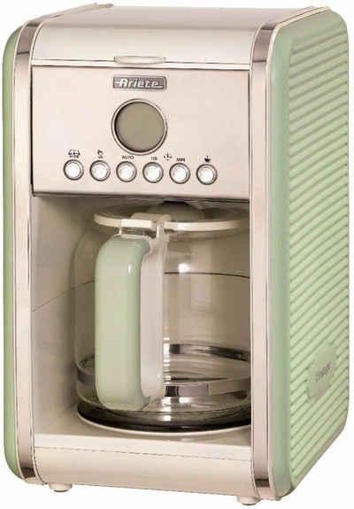 Ariete Filterkaffeemaschine Vintage grün 1342, 1,5l Kaffeekanne, Permanentfilter, Startzeit Kaffeezubereitung programmierbar und Unterbrechung der Zubereitung