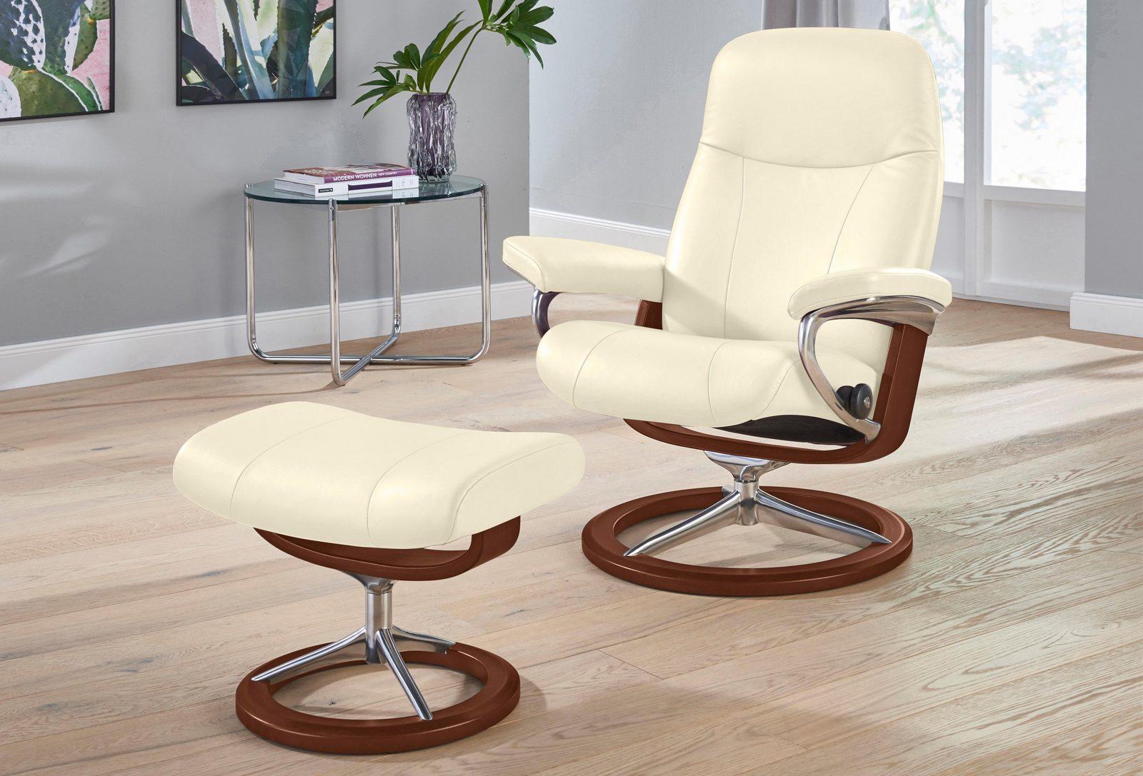 Stressless Set: Relaxsessel mit Hocker »Garda« Signature Base, Größe S, Schlaffunktion