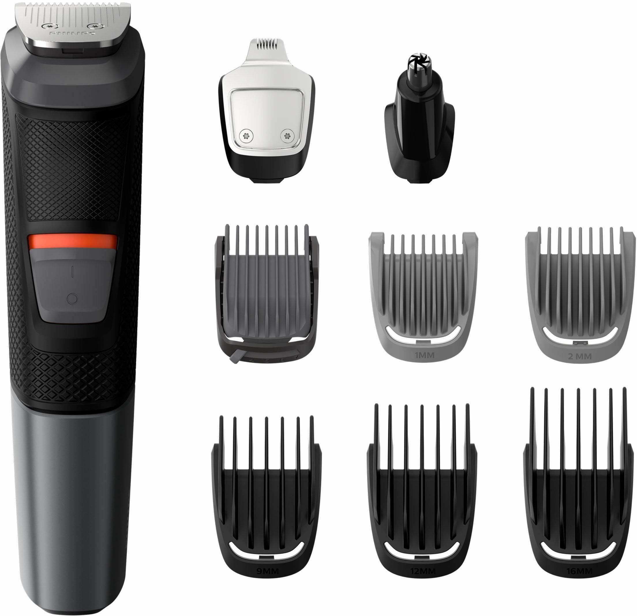 Philips Haar- und Bartschneider MG5720/15, Multigroom Series 5000 mit 9 hochwertigen Aufsätzen