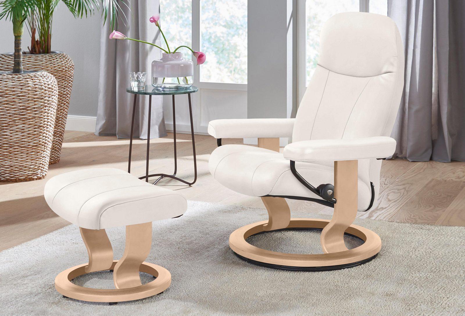 Stressless Set: Relaxsessel mit Hocker »Garda« Classic Base, Größe S, Schlaffunktion