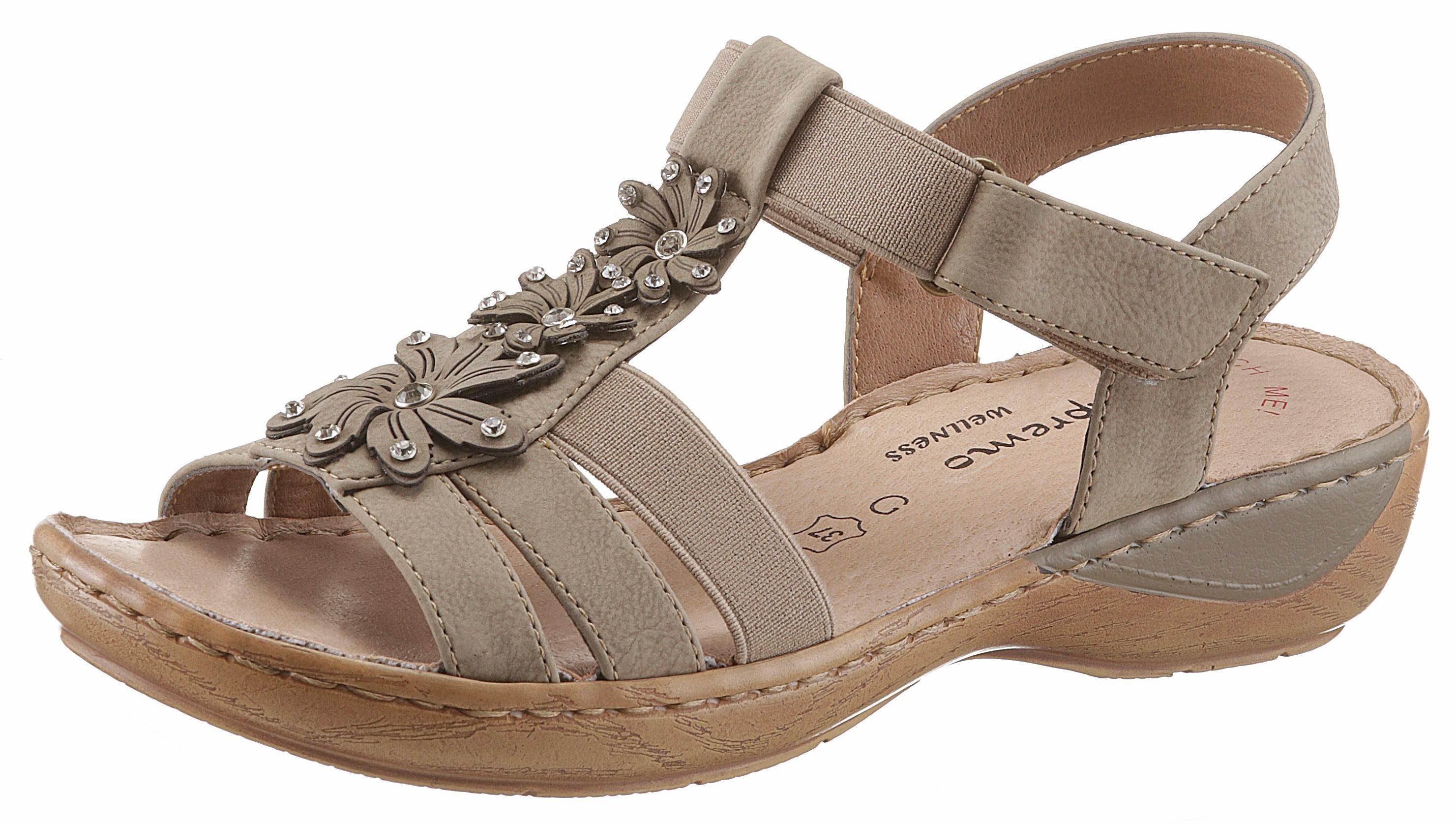 Supremo Riemchensandale, in bequemer Schuhweite G (weit) online kaufen  dunkelbeige