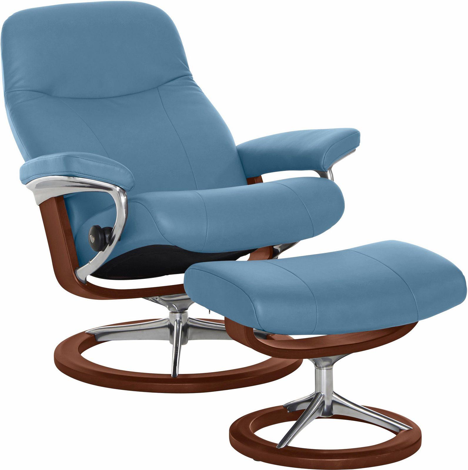 Stressless Set: Relaxsessel mit Hocker »Garda« Signature Base, Größe L, Schlaffunktion