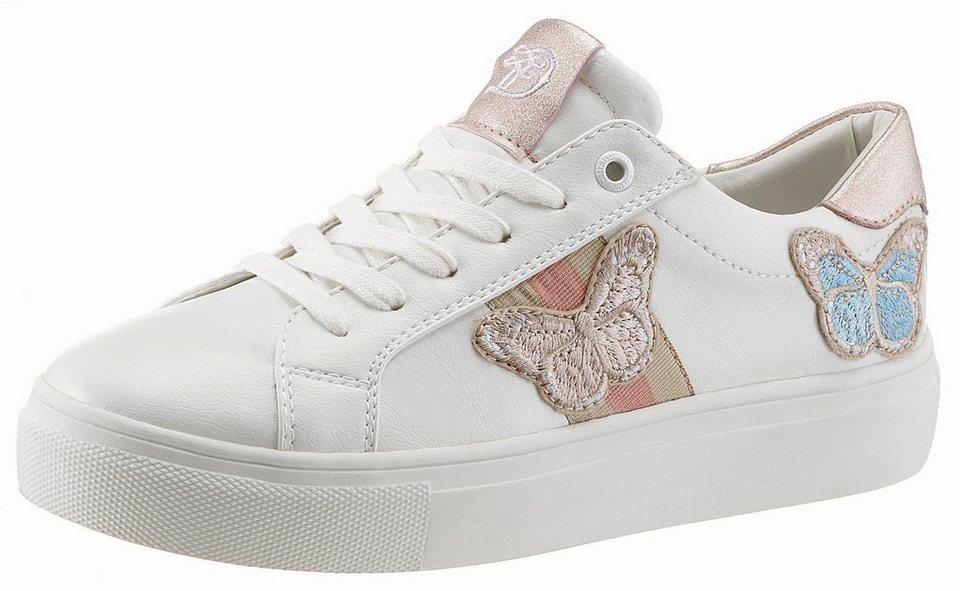 release date: 21c01 f4073 TOM TAILOR Sneaker mit süßer Schmetterlingsstickerei online kaufen | OTTO