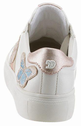 Tom Tailor Sneaker, mit süßer Schmetterlingsstickerei