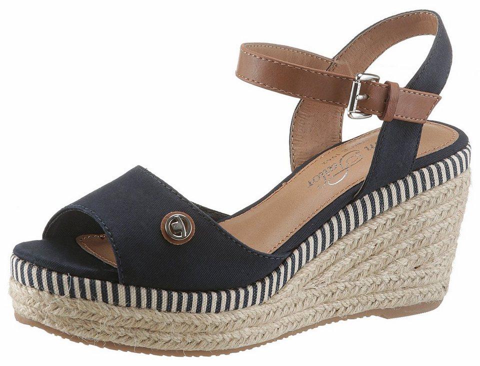 promo code 1e3a9 1f3a0 Tom Tailor Sandalette mit jutebezogenem Keilabsatz, Obermaterialmix aus  Lederimitat und Textil online kaufen | OTTO