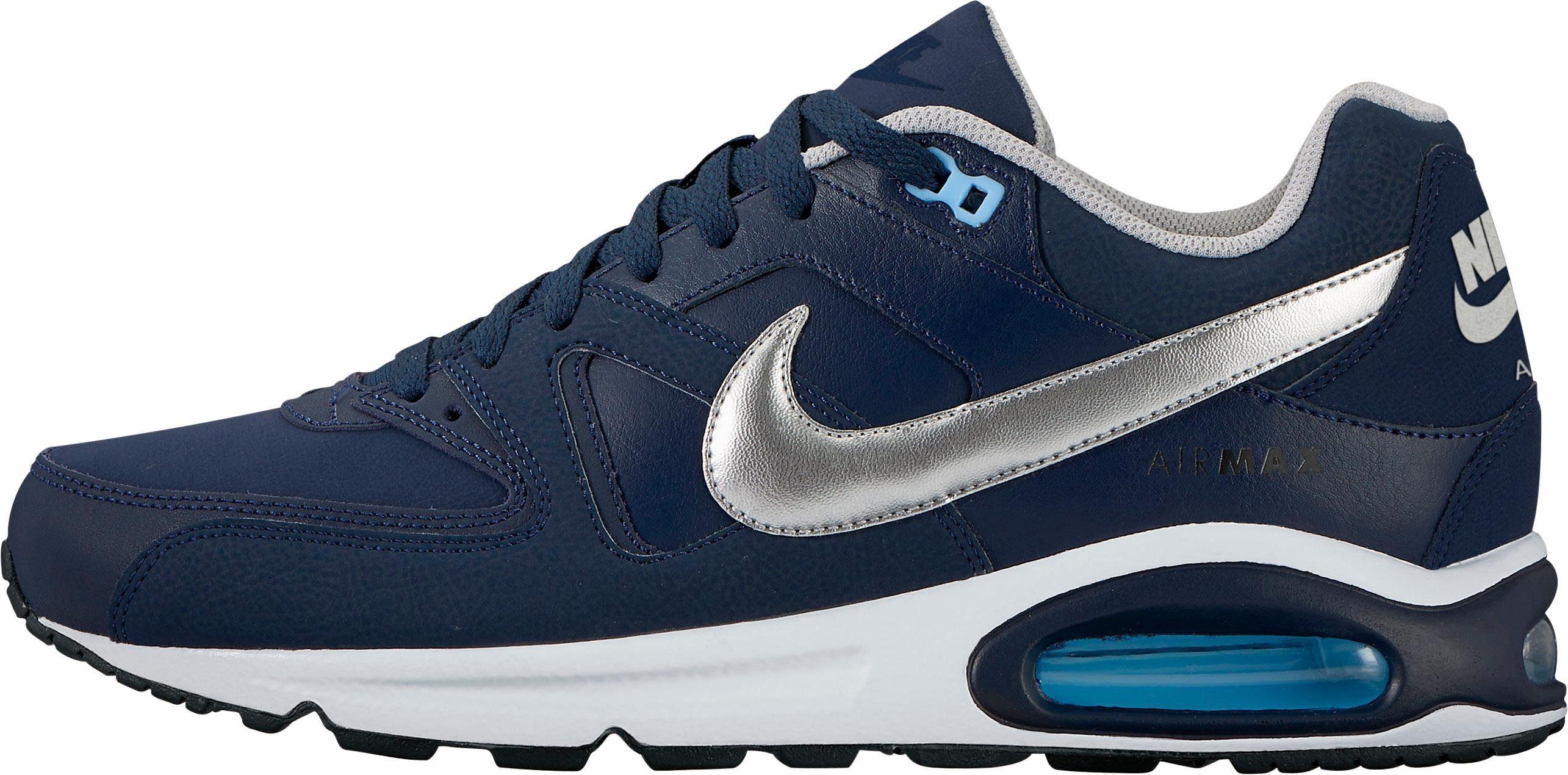 Nike Sportswear Air Max Command Leather Sneaker  navy-silberfarben