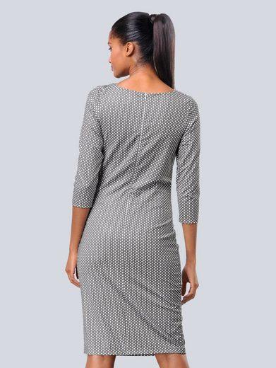 Alba Moda Druckkleid im Punktedessin aus softer Slinky Jersey Qualität
