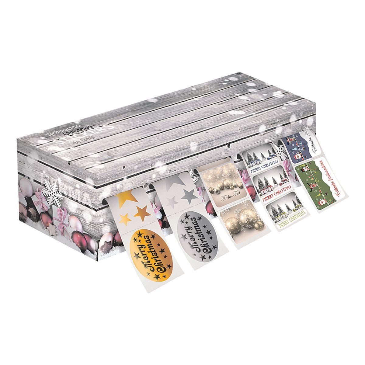 HERMA Weihnachtssticker-Spenderbox