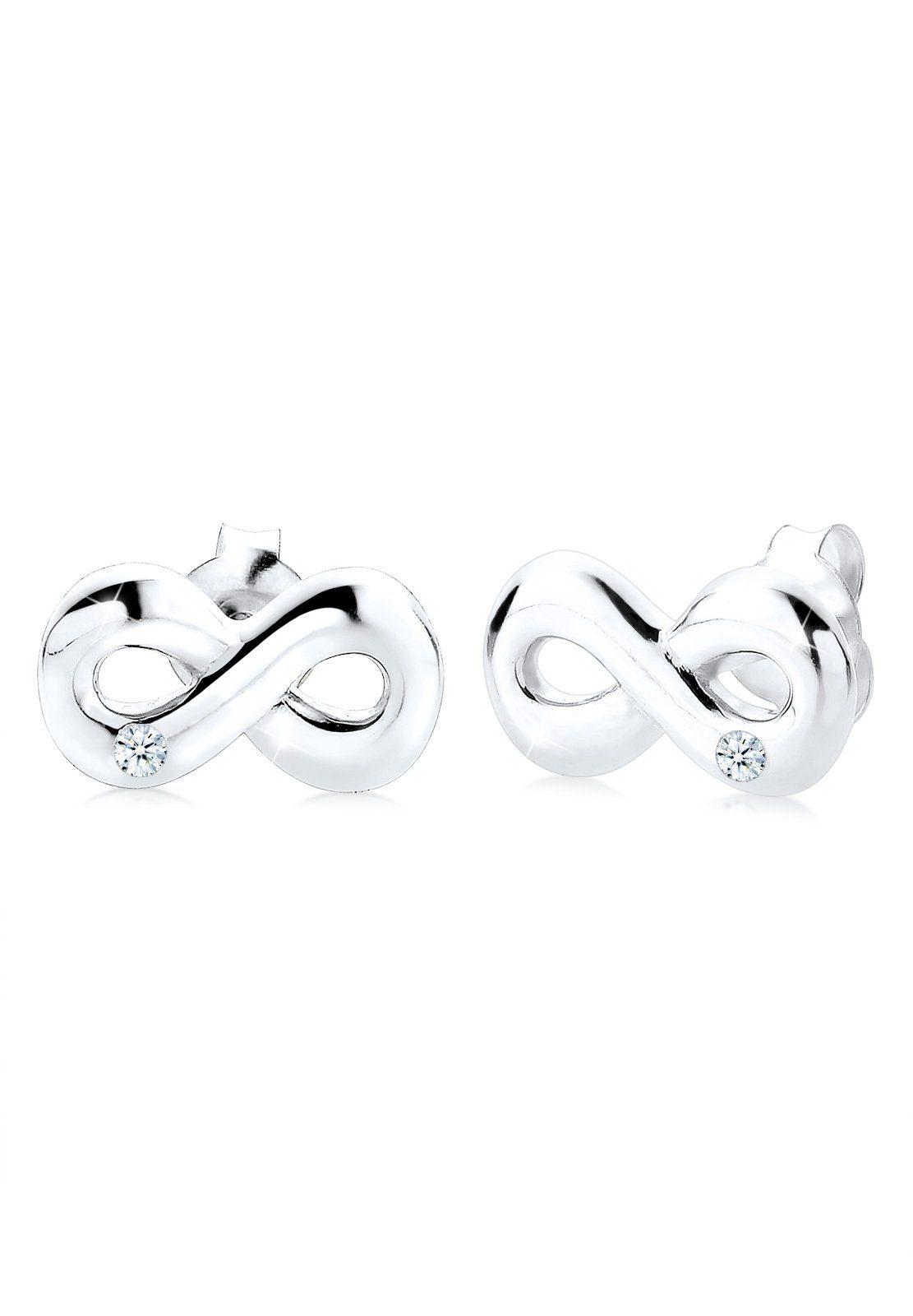 Diamore Ohrringe »Infinity Diamant Liebe Unendlichkeit 925 Silber«