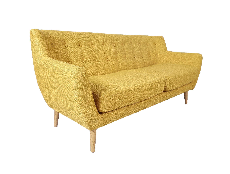 SalesFever Sofa im Retro-Style 3-Sitzer »Lowa«