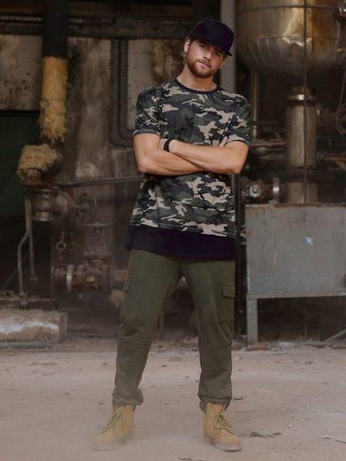 Men Plus by Happy Size Longshirt Camouflage
