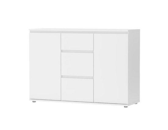 ebuy24 Sideboard »Nora Sideboard 2 Türen und 3 Schubladen weiss.«
