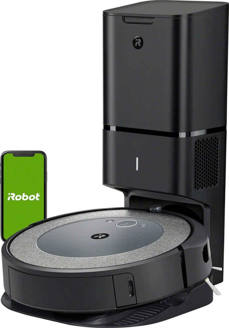 iRobot Saugroboter Roomba® i3+ (i3558) WLAN-fähiger Saugroboter mit automatischer Absaugstation, Ideal für Allergiker mit zusätzlichem Filter und Anti-Allergen Beutel, zwei Gummibürsten für alle Böden