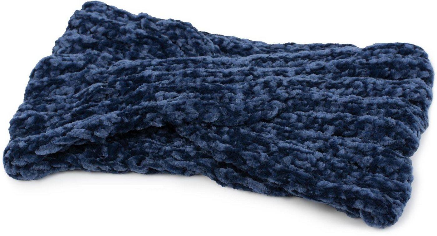 stylebreaker -  Stirnband »Strick Stirnband Chenille Optik mit Knoten« Strick Stirnband Chenille Optik mit Knoten
