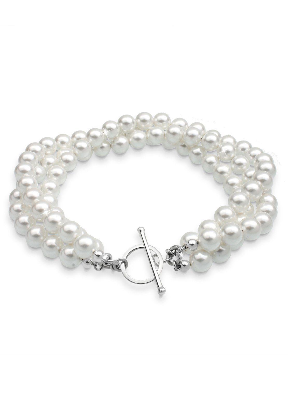 Elli Armband »Süßwasserzuchtperlen 925 Sterling Silber«