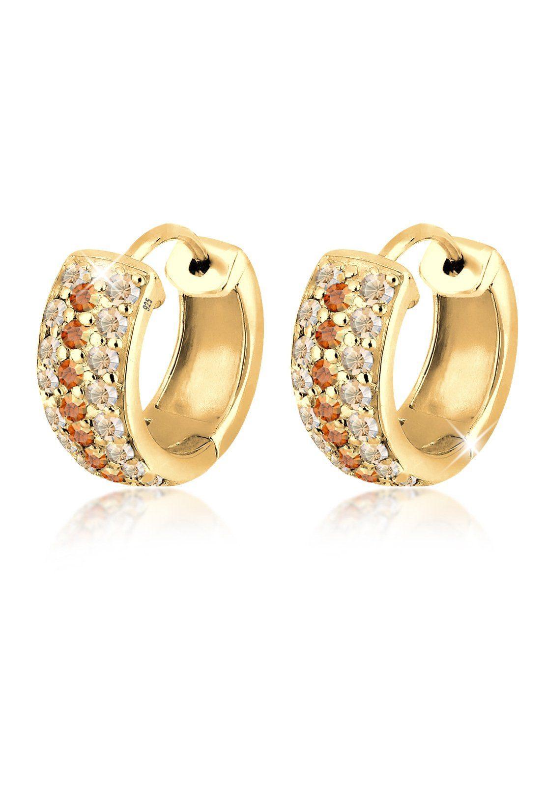 Goldhimmel Ohrringe »Creolen Swarovski® Kristalle 925 Sterling Silber«