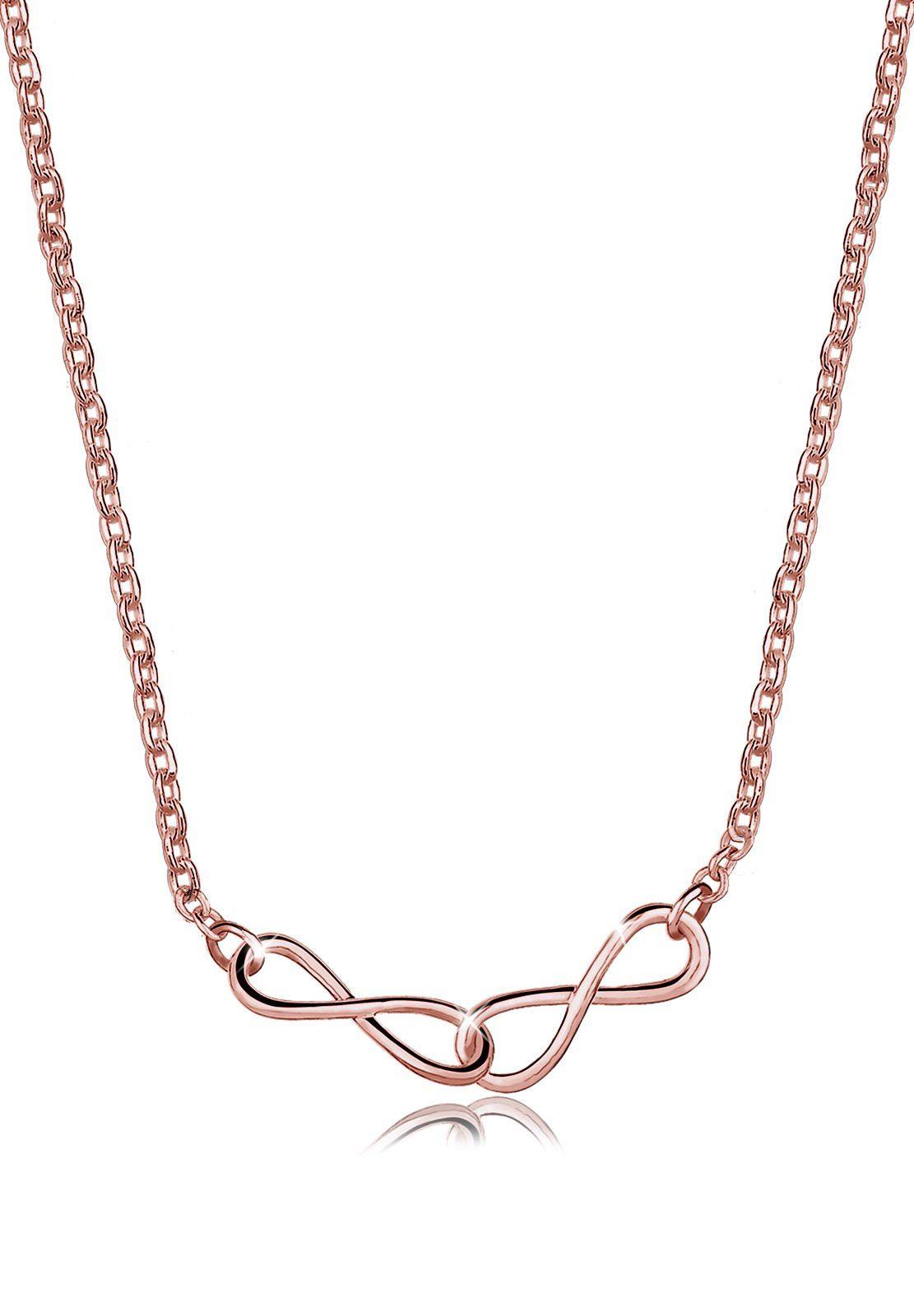 Elli Halskette »Infinity 925 Sterling Silber ROSÉGOLD«