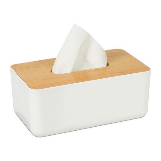 relaxdays Papiertuchbox »Tücherbox mit Bambus-Deckel«