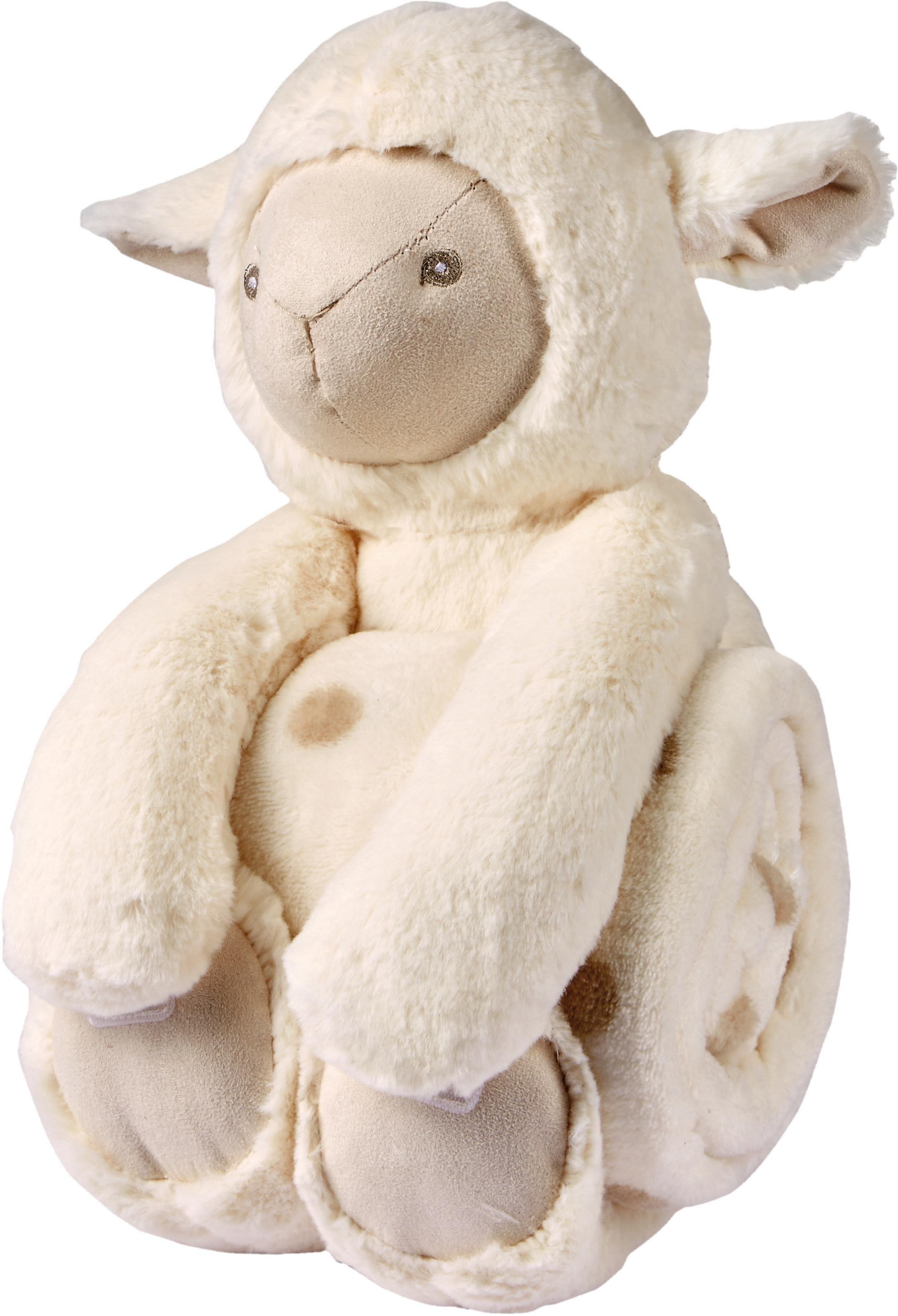 Kinderdecke, Biederlack, »Sweet lamb«, mit Kuscheltier