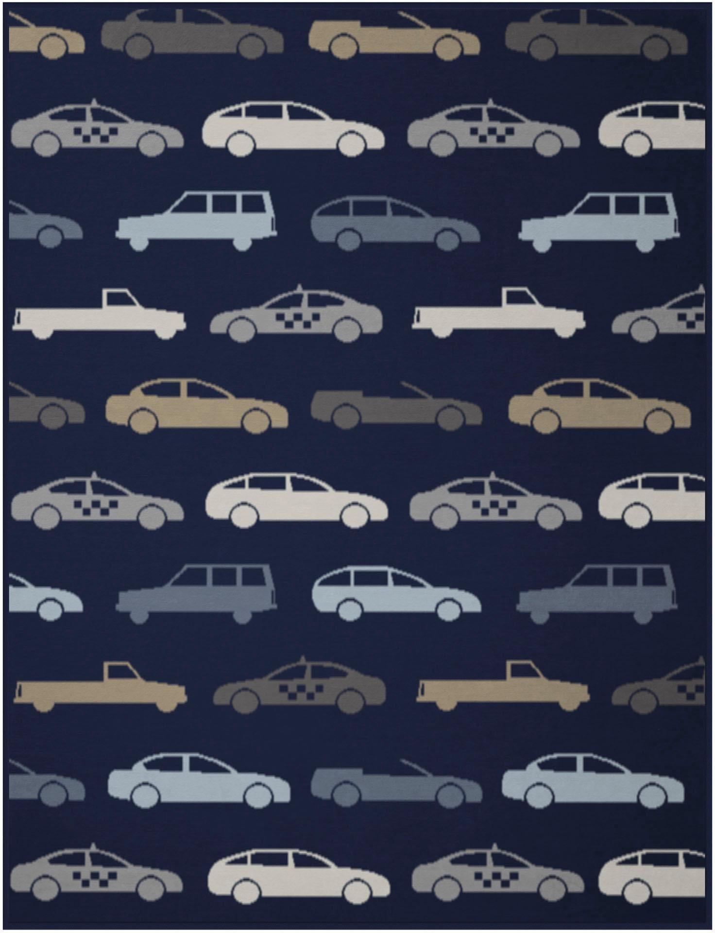 Babydecke, Biederlack, »Lovely Freeway«, mit Auto Motiv | Kinderzimmer > Textilien für Kinder > Babytextilien | BIEDERLACK