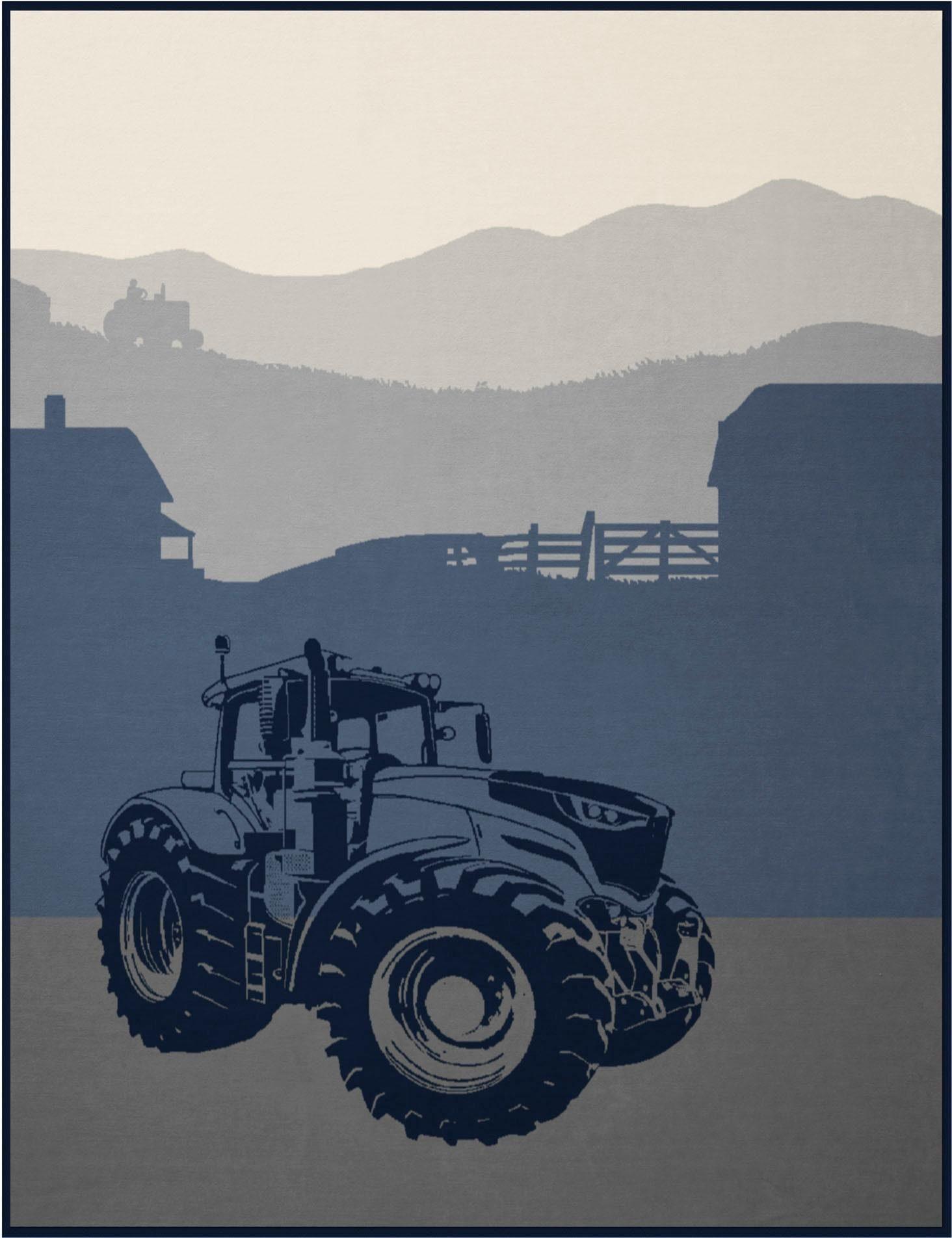Wohndecke »Traktor«, BIEDERLACK, mit Traktor Motiv