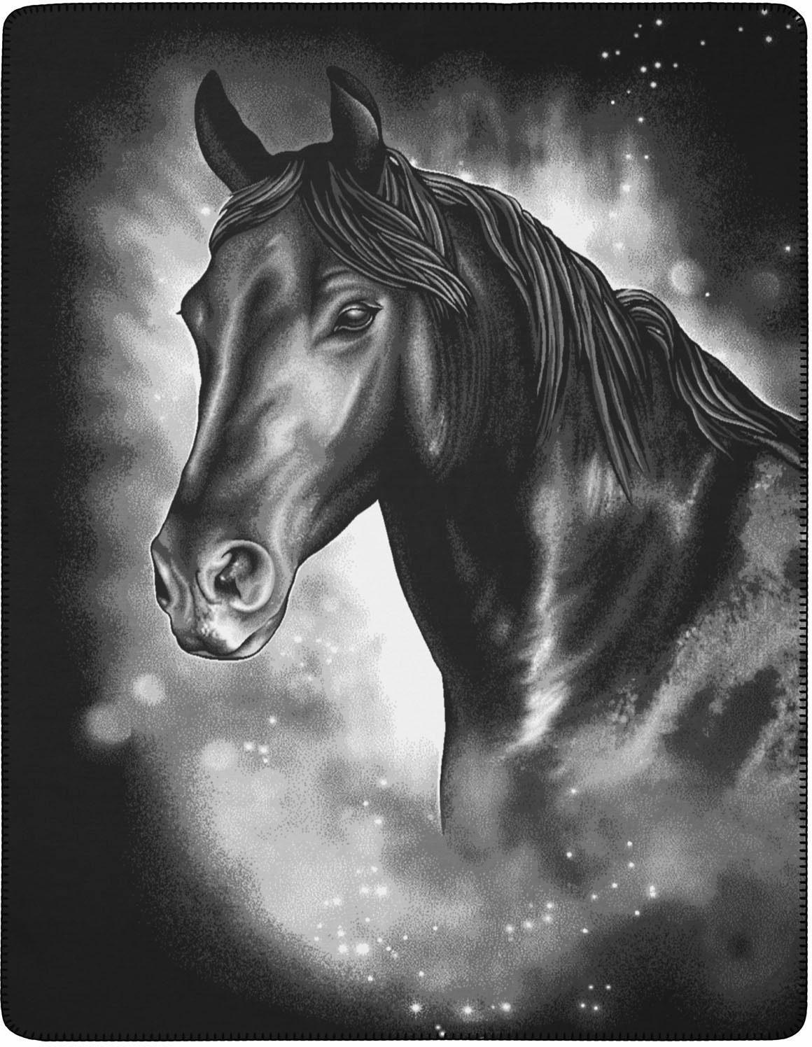Wohndecke, Biederlack, »Valegro«, mit Pferde Motiv