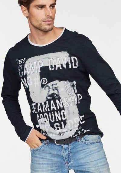 CAMP DAVID Langarmshirt, Slub-Yarn-Qualität