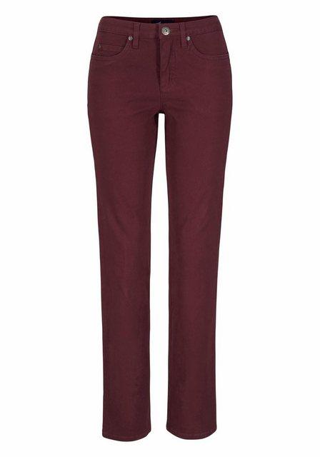 Hosen - Arizona Gerade Jeans »Comfort Fit« High Waist › rot  - Onlineshop OTTO