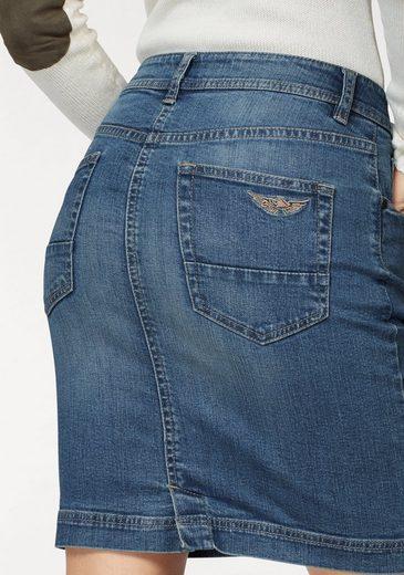 Arizona Jeansrock mit sichtbarer Knopfleiste, High Waist