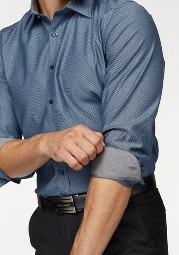 OLYMP Businesshemd Level Five body fit, Strukturmuster mit edlem Glanz